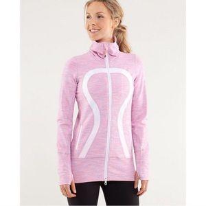 Lululemon Pink Striped Stride Jacket